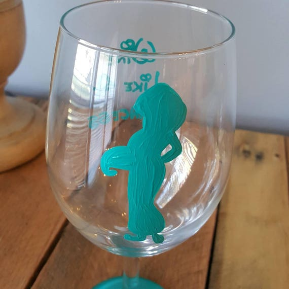 Wine like a princess wineglass. Princess Jasmine wineglass