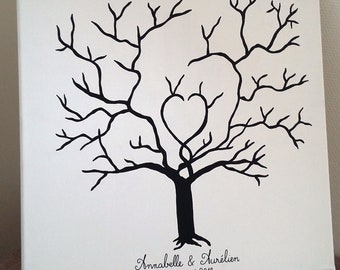 "tree footprints ""tree of love"" wedding, birthday, christening, wedding anniversary..."