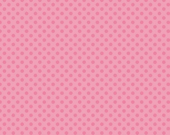 Hot Pink Tone on Tone Small Dots Fabric by Riley Blake Designs - by the Yard - 1 Yard - C420-70