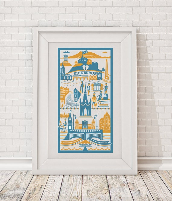 Edinburgh Print Edinburgh Illustration City Gift Art
