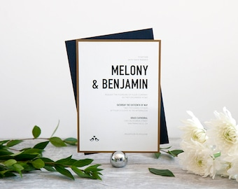 Modern & Bold Wedding Invitation, Deposit to Get Started