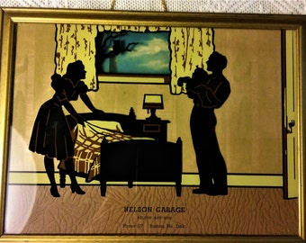 1940's Advertising Silhouette Picture from Barton, No. Dakota