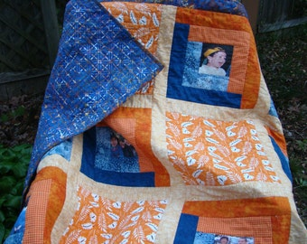 Memory Quilts: Made to order quilts that incorporate your favorite photos into a commemorative quilt!