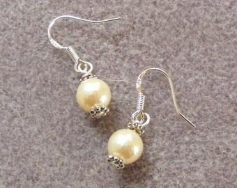 Genuine Cultured Pearl Earrings