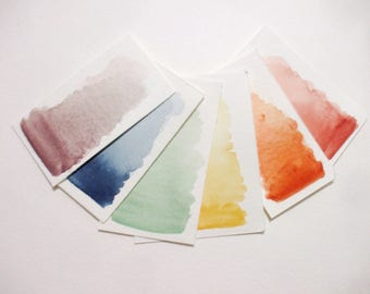 Ochre Collection - Handmade Watercolor Paint - Art Supply - Artist Gift - Art Paint - Handcrafted Professional Watercolour