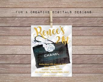 Chanel Art Invitation