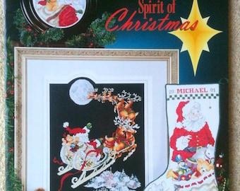 Stoney Creek Collection Spirit of Christmas Cross Stitch Charts Book 282 6 Charts Stocking Chart