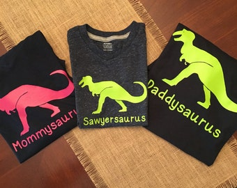 Mamadactyl Dinosaur Shirt Mom Family Shirts Birthday Animal Kingdom Pregnancy Announcement Zoo