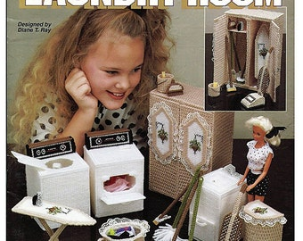Barbie  Plastic Canvas Pattern Fashion Doll Dream Home Laundry Room The Needlecraft Shop 933722