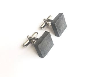 Square Concrete Cufflinks