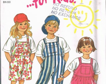 Size 2-7 Boys or Girls Overalls Sewing Pattern - Overalls Shorts Pattern - Bib Front Overalls - Overalls Dress Pattern - New Look 6374