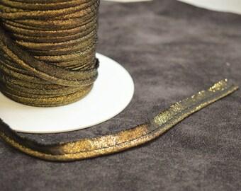 5 m 10mm gold lurex piping