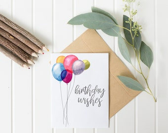 Birthday Wishes Balloons Card