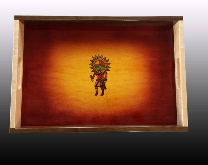 Wood Serving Tray - Sundancer Sunburst