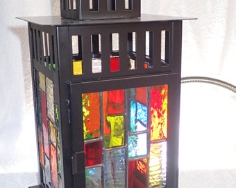 Small Stained Glass Patio Lantern