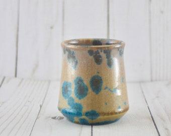 Ceramic Cup, Crystalline, Turquoise