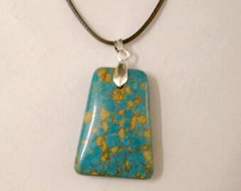 Genuine Turquoise Necklace, Large Turquoise Necklace, Turquoise Jewelry