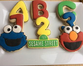 Sesame Street Sugar Cookie Party Favors ~ 9 cookies