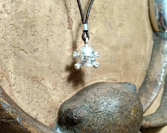 Sterling Silver Skull Pendant Ancient Jewelry
