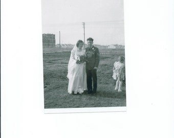 1940's Just Married picture from original negatives