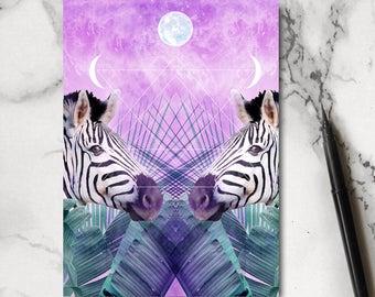 Zebra Notebook - Zebra Stationery - Tropical Notebook - Horse Notebook - Jotter - Notepad