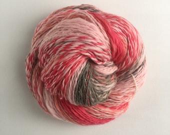 Handspun Yarn, Merino fiber, Barbie.