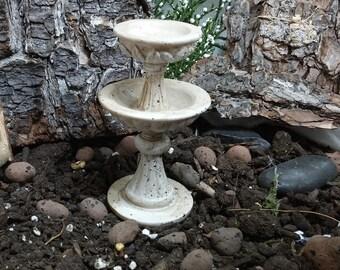 2 Tier Birdbath for Fairy Garden or Dollhouse
