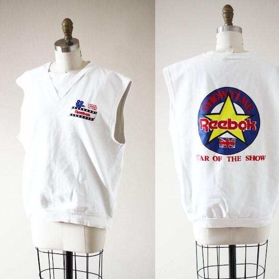 1980s Reebok sleeveless sweatshirt // 1980s Reebok sweatshirt // vintage t-shirt