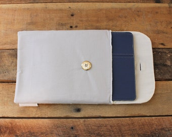 iPad Sleeve, in Grey; tablet sleeve, tablet case, tablet cover, samsung tablet cover, ipad cover, ipad case, padded ipad cover, gadget