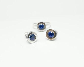 Blue earrings small earrings  blue zirconia handmade original earrings wholesale jewellery