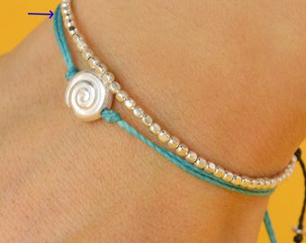 Sterling silver Seashell bracelet