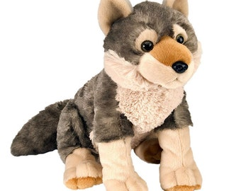 Wolf Rock Climbing Chalk Bag made from a child's plush toy