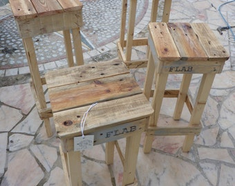 High stool pallets - sgabello alto pallets by FLAB