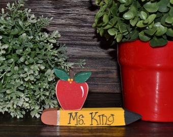 Personalized Teacher Appreciation Gift SMALL Name Plate Wedding Gift for Teacher Personalized Teacher Gift End of School Gift Name Plaque
