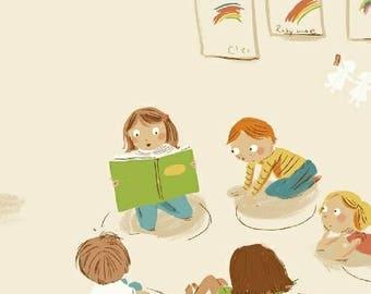 Kinder by Heather Ross - Kindergarten in White