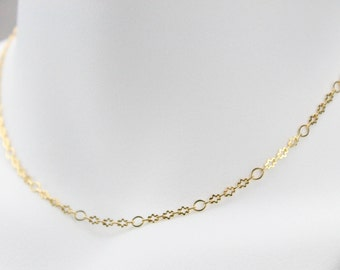 Gold Oval and Cloud Choker
