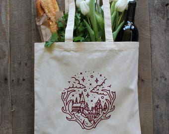 H. POTTER Reusable Grocery Bag Canvas Tote