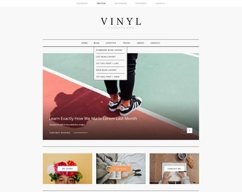 WordPress Theme, WordPress Blog Theme, WordPress Template, Website Template, Template, Paper, WordPress, Blog Template, Website, Vinyl Blog