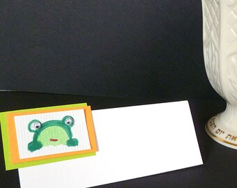 Seder Table Frog with Googly Eyes  Place Cards Set of 12