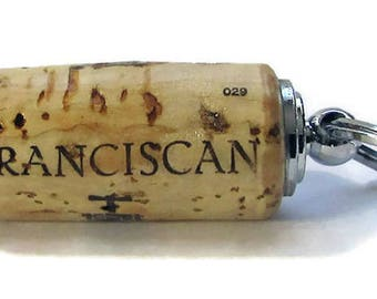Franciscan Estate Winery Pill Holder with Key Ring / Handcrafted Gift / Pillholder / Key Ring / Gift for Her / Gift for Him