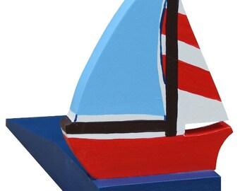Nautical Doorstop / Sailing Boat Doorstop