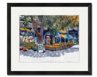 Cape Cod Wellfleet MA | Landscape Painting | Watercolor ART | watercolor PRINT | watercolor painting  | street scenes
