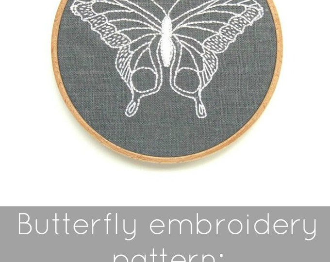 Butterfly Embroidery Pattern - Digital Download
