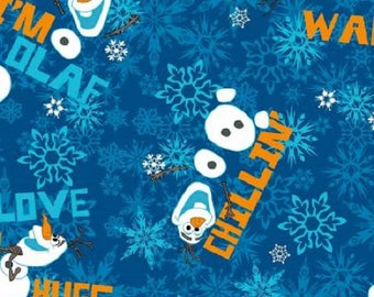 "Disney's ""Frozen"" Olaf Chillin'-Blue B/G-Springs Creative-BTY"