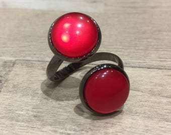 Cherry Red hematite ring