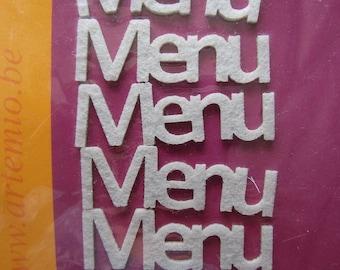 set of 6 stickers sticker felt menu theme