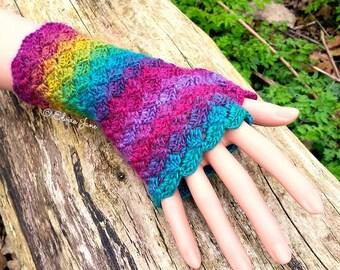 UK Crochet Pattern for Fingerless Gloves