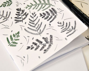 A6 recycled notebook: A forest floor