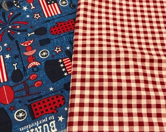 The Cookout - Reversible Pet/Cat/Dog Fourth of July Tie On Bandana/Scarf