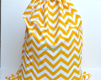 Monogrammed College Laundry Bag with strap - Many Fabrics Available